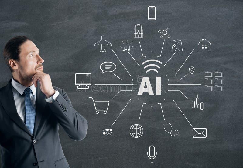 Έννοια τεχνητής νοημοσύνης και στοιχείων στοκ εικόνα με δικαίωμα ελεύθερης χρήσης