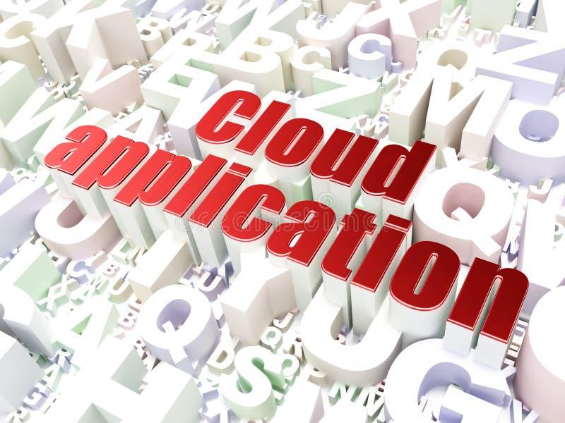 Έννοια τεχνολογίας: Εφαρμογή σύννεφων στο backgrou αλφάβητου στοκ εικόνες