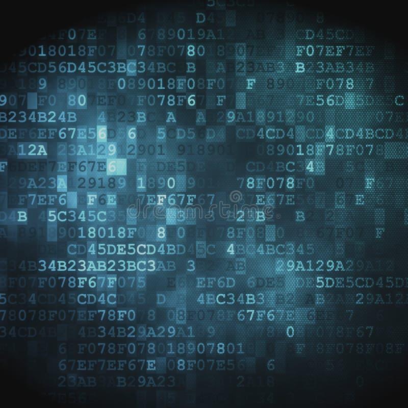 Έννοια τεχνολογίας: ψηφιακό υπόβαθρο δεκαεξαδικό-κώδικα στοκ φωτογραφία