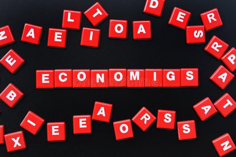Έννοια της λέξης οικονομικών στοκ εικόνες