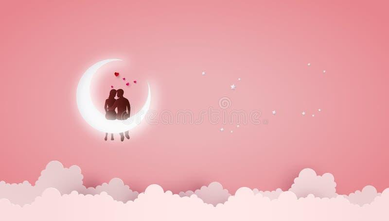 Έννοια της αγάπης και της ημέρας βαλεντίνων απεικόνιση αποθεμάτων