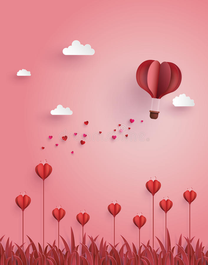 Έννοια της αγάπης και Valentine& x27 ημέρα του s ελεύθερη απεικόνιση δικαιώματος