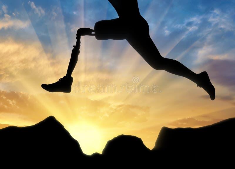 Έννοια της ανικανότητας, προσθετικό πόδι στοκ εικόνα με δικαίωμα ελεύθερης χρήσης