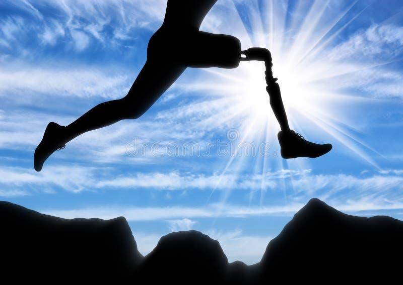 Έννοια της ανικανότητας, προσθετικό πόδι στοκ φωτογραφία