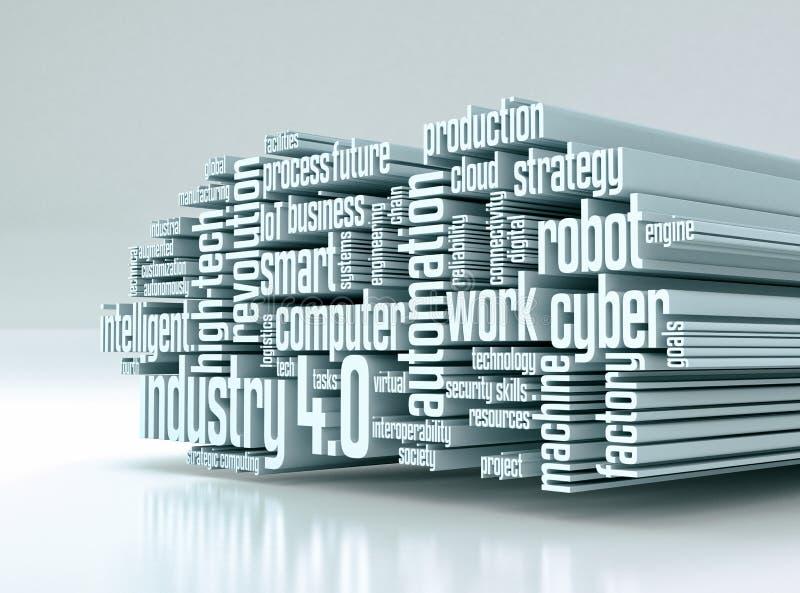 Έννοια της βιομηχανίας 4 απεικόνιση αποθεμάτων