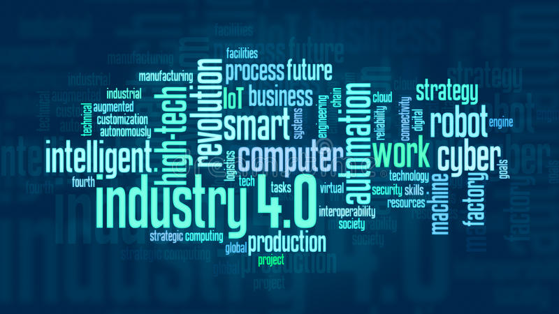 Έννοια της βιομηχανίας 4 ελεύθερη απεικόνιση δικαιώματος