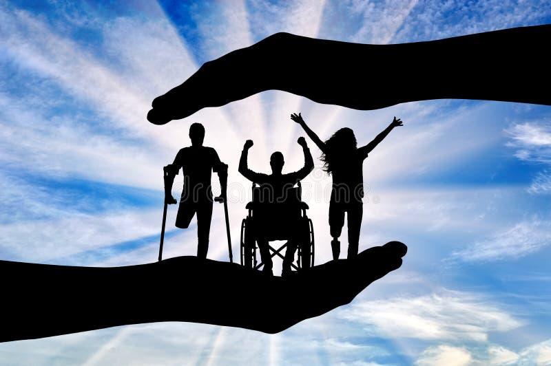 Έννοια της βοήθειας και η προσοχή των ατόμων με ειδικές ανάγκες στοκ φωτογραφίες