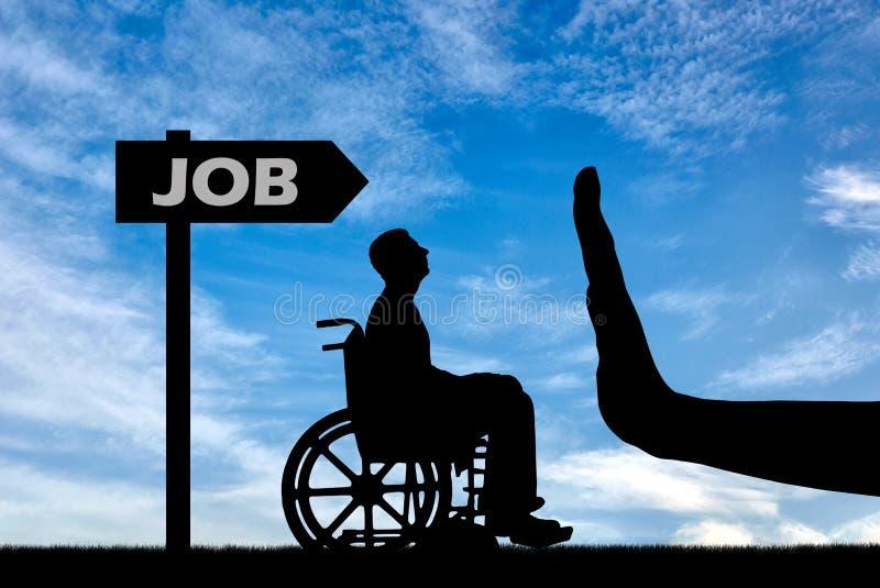 Έννοια της διάκρισης στην απασχόληση των ανθρώπων ανάπηρων στοκ εικόνες