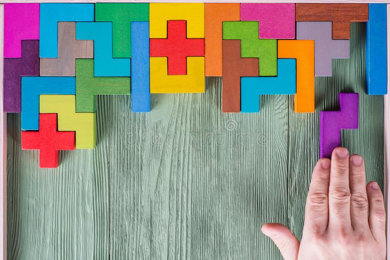 Έννοια της διαδικασίας λήψης απόφασης, λογική σκέψη Λογικοί στόχοι στοκ εικόνα