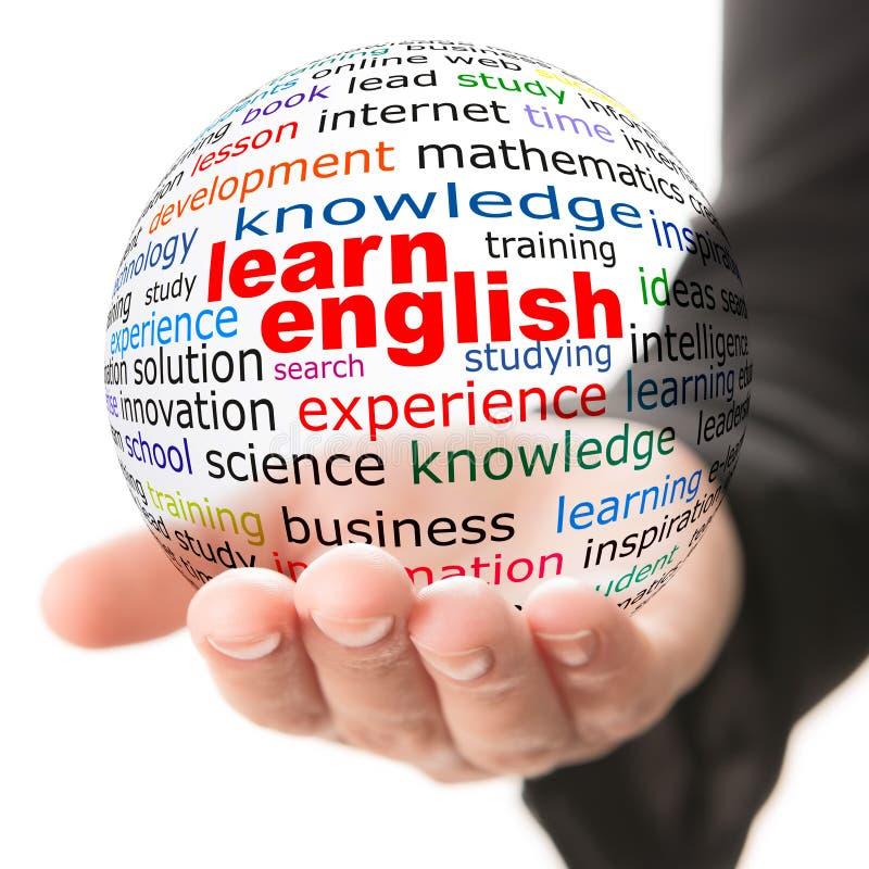 Έννοια της εκμάθησης των αγγλικών στοκ φωτογραφία