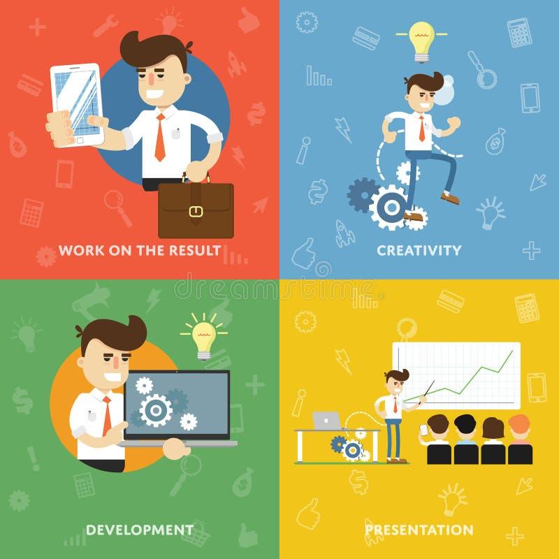 Έννοια της επιτυχίας μια νέα ανάπτυξη ελεύθερη απεικόνιση δικαιώματος