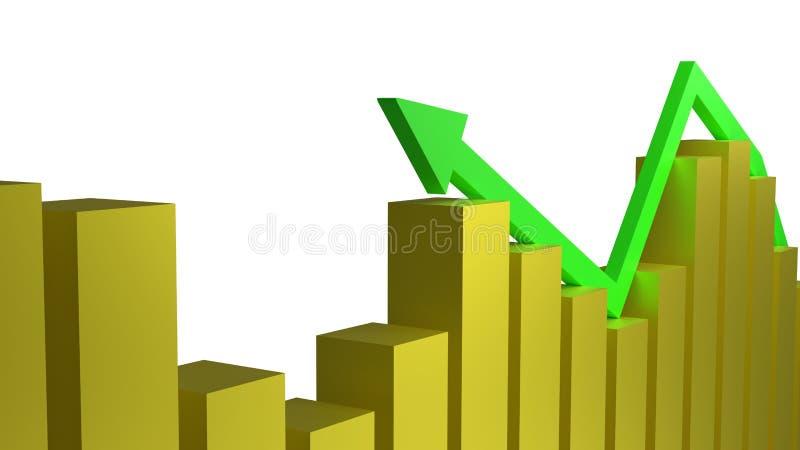 Έννοια της επιτυχίας οικονομικής ανάπτυξης και επιχειρήσεων απεικόνιση αποθεμάτων