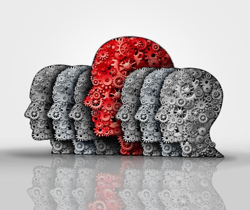 Έννοια της επιχειρησιακής ηγεσίας απεικόνιση αποθεμάτων
