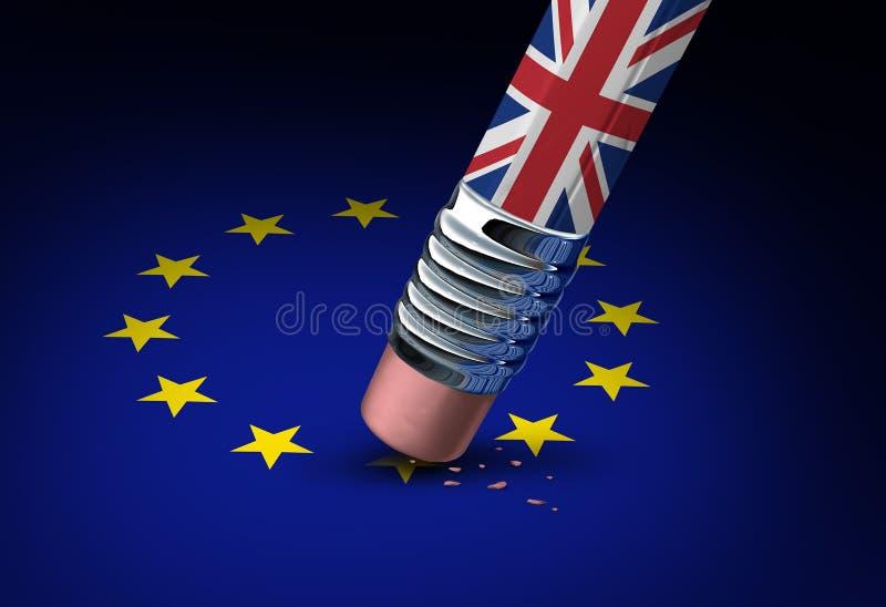 Έννοια της Ευρωπαϊκής Ένωσης της Μεγάλης Βρετανίας απεικόνιση αποθεμάτων