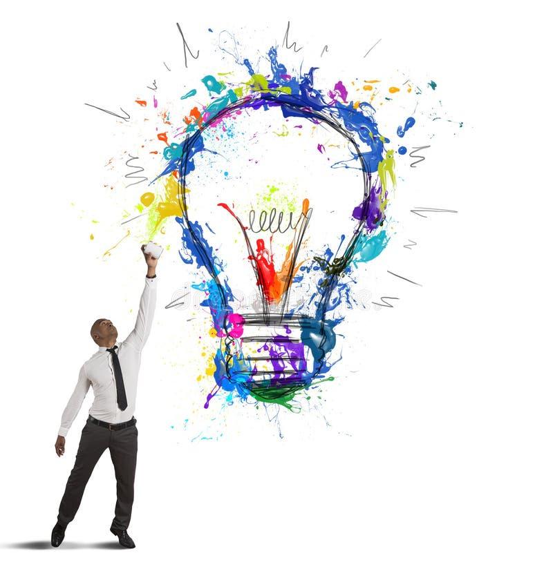 Δημιουργική επιχειρησιακή ιδέα ελεύθερη απεικόνιση δικαιώματος