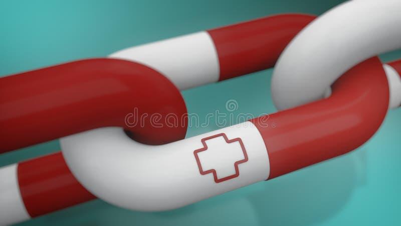 Έννοια της ιατρικής βοήθειας και της ερευνητικής ομάδας απεικόνιση αποθεμάτων