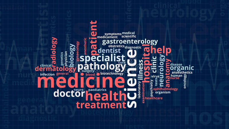 Έννοια της ιατρικής ελεύθερη απεικόνιση δικαιώματος