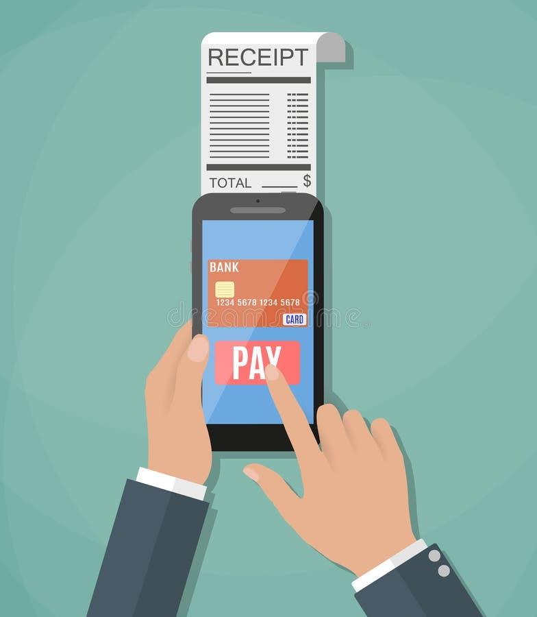 Έννοια της κινητής πληρωμής απεικόνιση αποθεμάτων