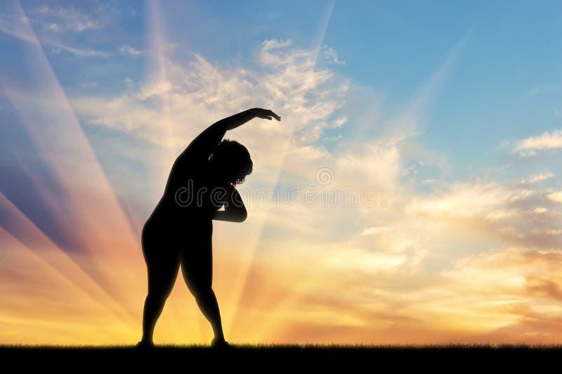 Έννοια της πάλης ενάντια στην παχυσαρκία και του υπερβολικού βάρους ελεύθερη απεικόνιση δικαιώματος