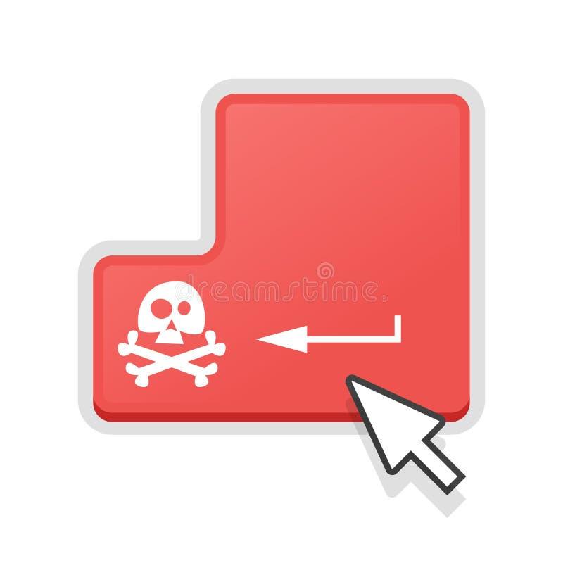Έννοια της πειρατείας cyber διανυσματική απεικόνιση