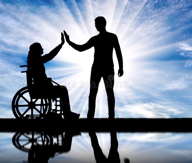 Έννοια της προσοχής και της υποστήριξης για τους ανθρώπους ανάπηρους στοκ φωτογραφίες