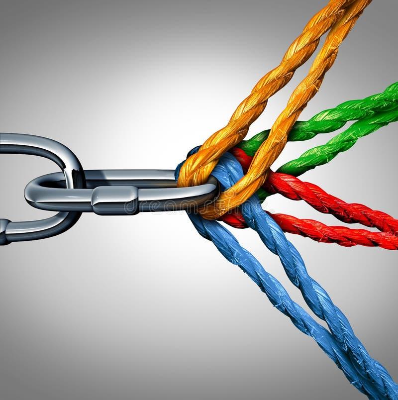 Έννοια της σύνδεσης ελεύθερη απεικόνιση δικαιώματος