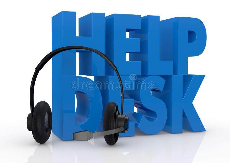 Έννοια της υπηρεσίας γραφείων βοήθειας απεικόνιση αποθεμάτων