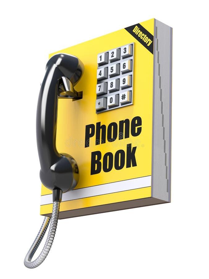 Έννοια τηλεφωνικών καταλόγων ελεύθερη απεικόνιση δικαιώματος