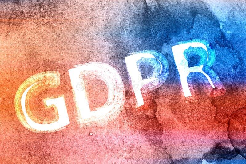 Έννοια του γενικού κανονισμού για την προστασία των δεδομένων GRPR στοκ εικόνα
