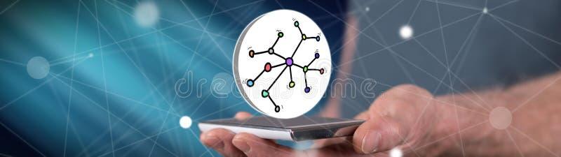 Έννοια του δικτύου απεικόνιση αποθεμάτων