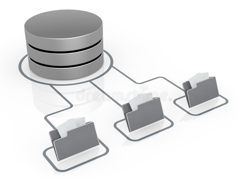 Έννοια του δικτύου υπολογιστών διανυσματική απεικόνιση