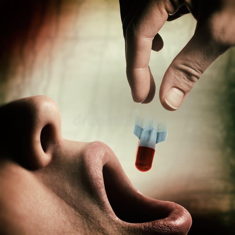 Έννοια του εθισμού στα ναρκωτικά στοκ φωτογραφία