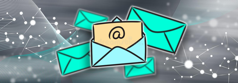 Έννοια του ηλεκτρονικού ταχυδρομείου διανυσματική απεικόνιση