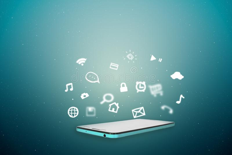 Έννοια του κινητού έξυπνου τηλεφώνου με το εικονίδιο α εφαρμογής τρόπου ζωής στοκ φωτογραφίες με δικαίωμα ελεύθερης χρήσης