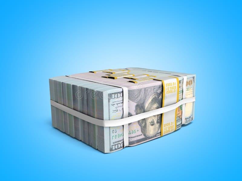 έννοια του μεγάλου σωρού Deposite χρημάτων των μετρητών λογαριασμών δολαρίων με το BO απεικόνιση αποθεμάτων