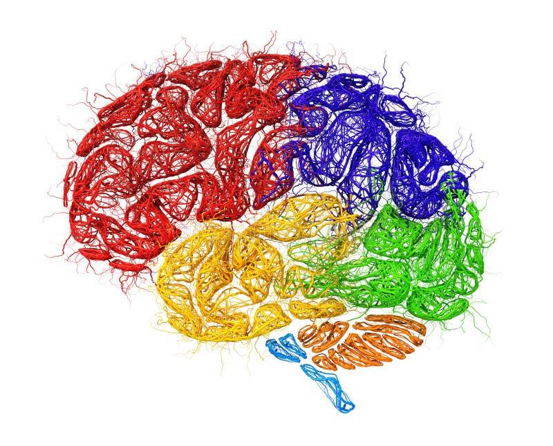 Έννοια του νευρικού δικτύου διανυσματική απεικόνιση