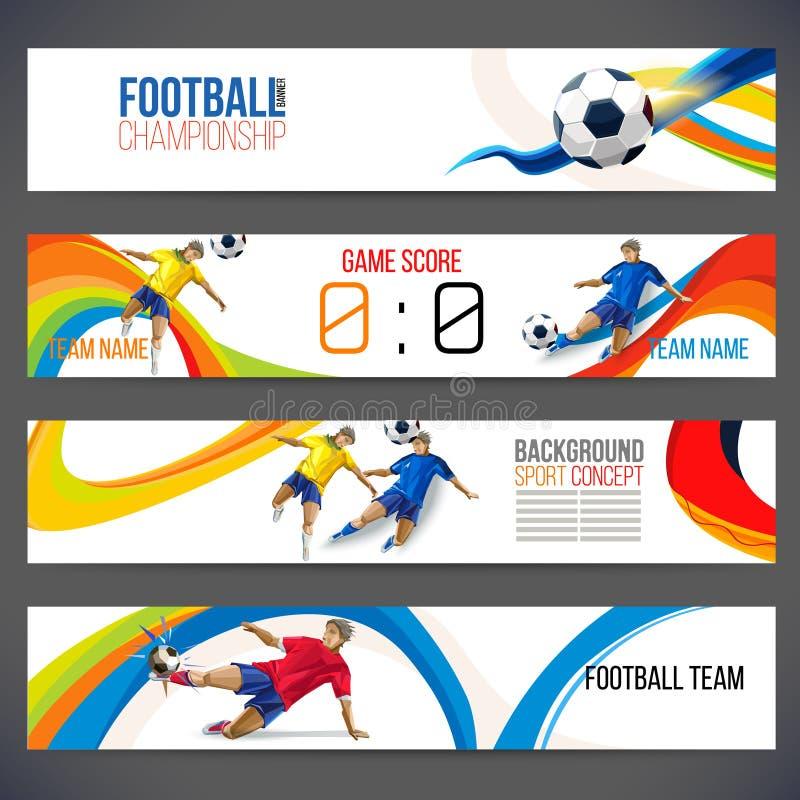 Έννοια του ποδοσφαιριστή τις χρωματισμένες γεωμετρικές μορφές που συγκεντρώνονται με στο ποδόσφαιρο αριθμού απεικόνιση αποθεμάτων