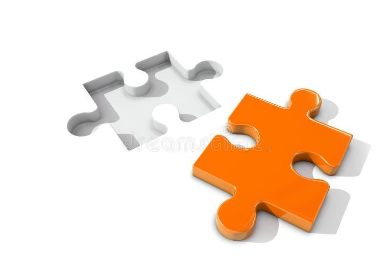 Έννοια του προβλήματος και της λύσης με το μέρος γρίφων διανυσματική απεικόνιση
