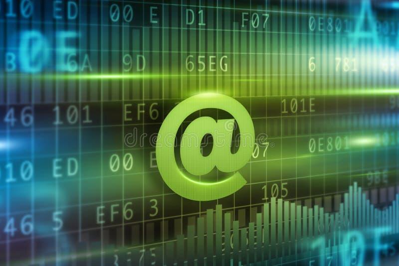 Έννοια του σημαδιού ηλεκτρονικού ταχυδρομείου @ ελεύθερη απεικόνιση δικαιώματος
