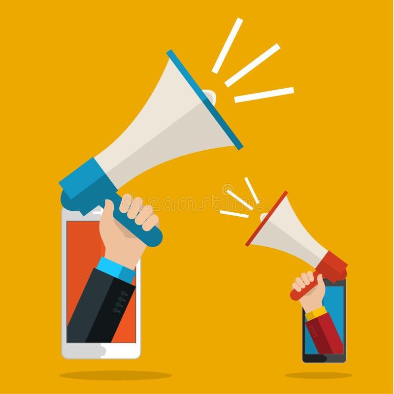 Download Έννοια του ψηφιακού μάρκετινγκ Διανυσματική απεικόνιση - εικονογραφία από επικοινωνία, επίπεδος: 62712856