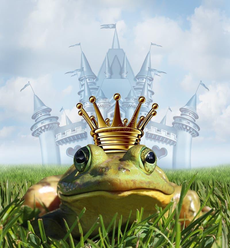 Έννοια του Castle πριγκήπων βατράχων απεικόνιση αποθεμάτων