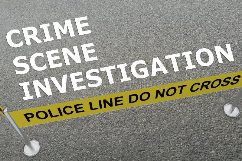 Έννοια του Crime Scene Investigation ελεύθερη απεικόνιση δικαιώματος