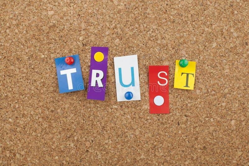 Έννοια του Word εμπιστοσύνης στοκ φωτογραφίες με δικαίωμα ελεύθερης χρήσης