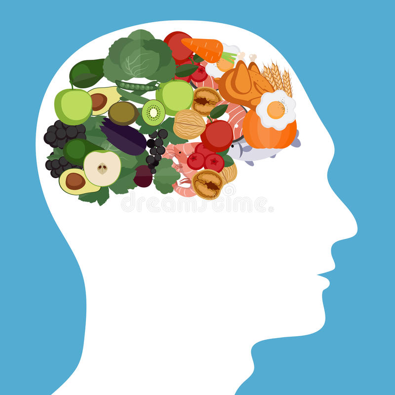Έννοια τροφίμων εγκεφάλου στοκ φωτογραφία με δικαίωμα ελεύθερης χρήσης