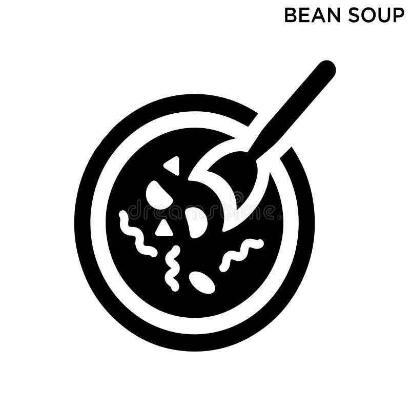 Έννοια τροφίμων εικονιδίων σούπας φασολιών ελεύθερη απεικόνιση δικαιώματος