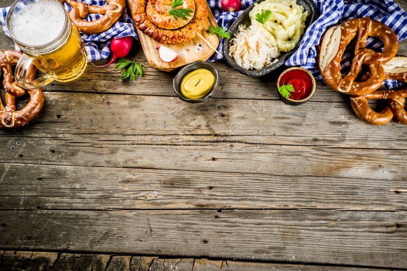 Έννοια τροφίμων Oktoberfest στοκ φωτογραφία