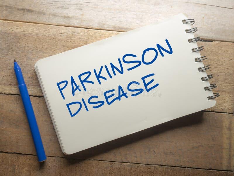 Έννοια τυπογραφίας ιατρικών και λέξεων υγειονομικής περίθαλψης, Parkinson ασθένεια στοκ εικόνα με δικαίωμα ελεύθερης χρήσης