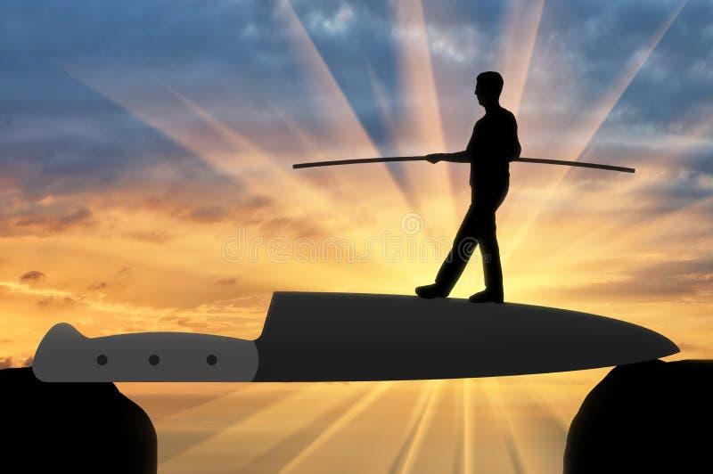 Έννοια των κινδύνων και των προβλημάτων στην επιχείρηση ελεύθερη απεικόνιση δικαιώματος