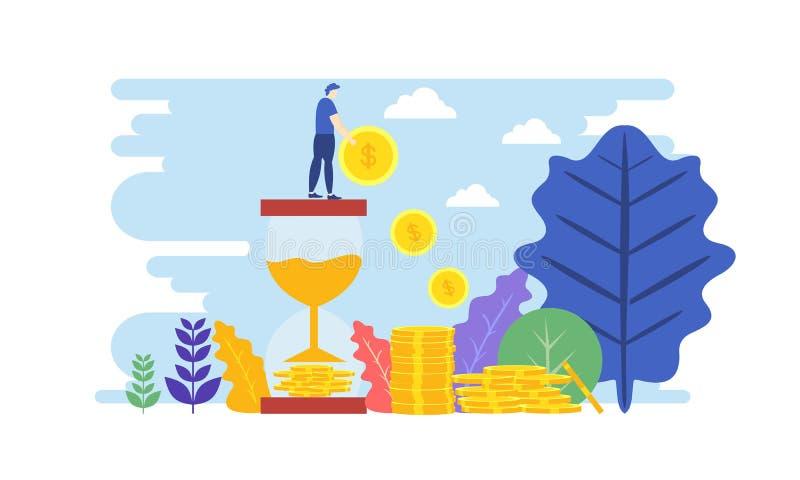 Έννοια των χρηματοοικονομικών επενδύσεων Βοηθός επιχείρησης καινοτομία, μάρκετινγκ, ανάλυση απεικόνιση διανύσματος Πρότυπο επίπεδ ελεύθερη απεικόνιση δικαιώματος