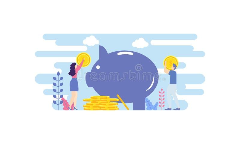 Έννοια των χρηματοοικονομικών επενδύσεων Βοηθός επιχείρησης καινοτομία, μάρκετινγκ, ανάλυση απεικόνιση διανύσματος Πρότυπο επίπεδ απεικόνιση αποθεμάτων